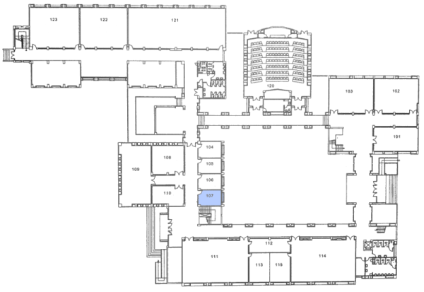 Plan of the Department Building